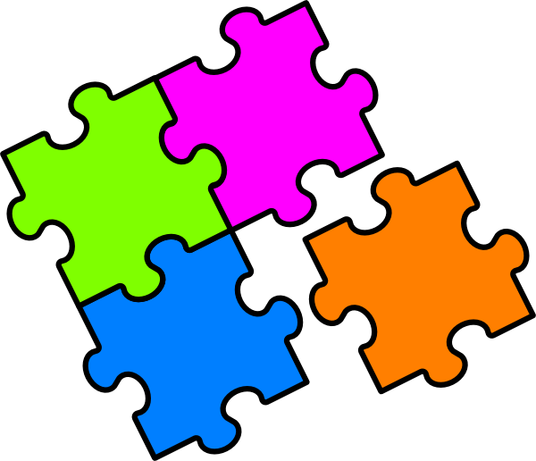 Clip art at clker. Puzzle clipart