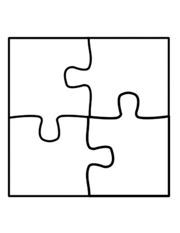 template trafaretai. Puzzle clipart 4 piece