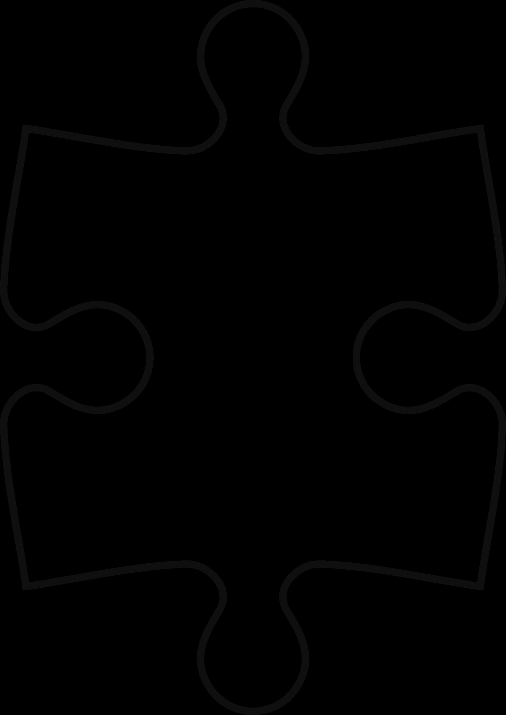 Puzzle clipart 4 piece. Of symetric big image