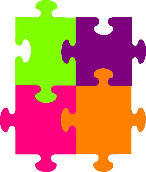 Puzzle clipart 4 piece. Jigsaw pieces clip art