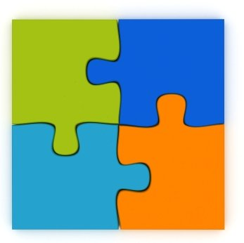 Free large template download. Puzzle clipart 4 piece