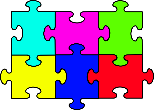 The top best blogs. Puzzle clipart