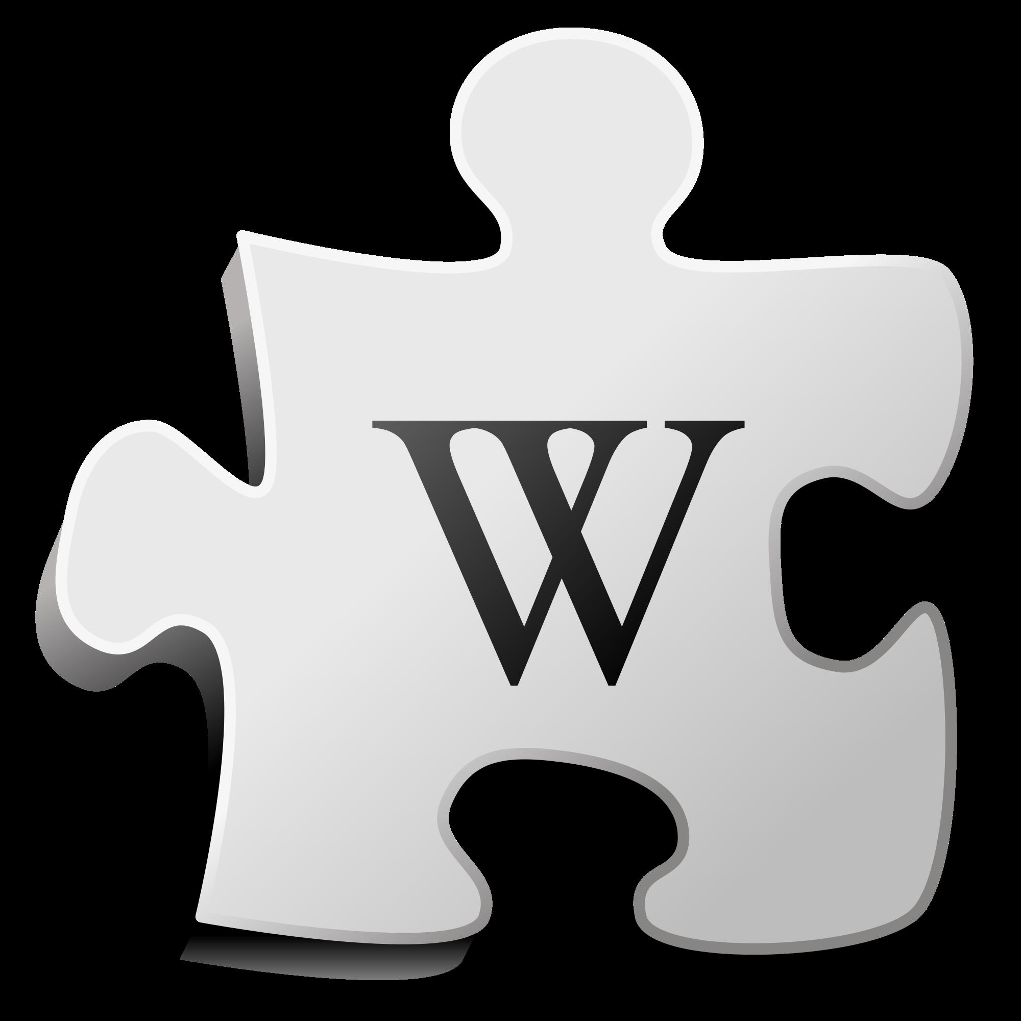 Puzzle clipart 6 piece. File wiki svg wikimedia