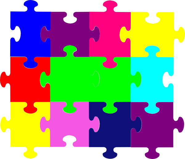 Puzzle clipart. Jigsaw clip art at