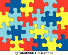 Clip art royalty free. Puzzle clipart aspergers