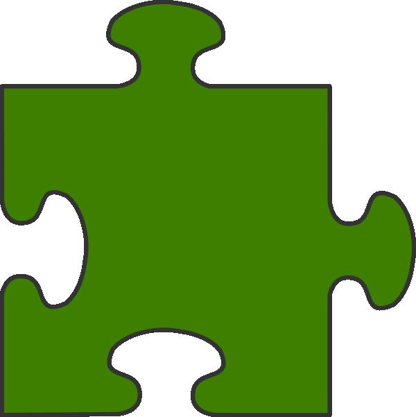 Puzzle clipart autism. Green border piece top