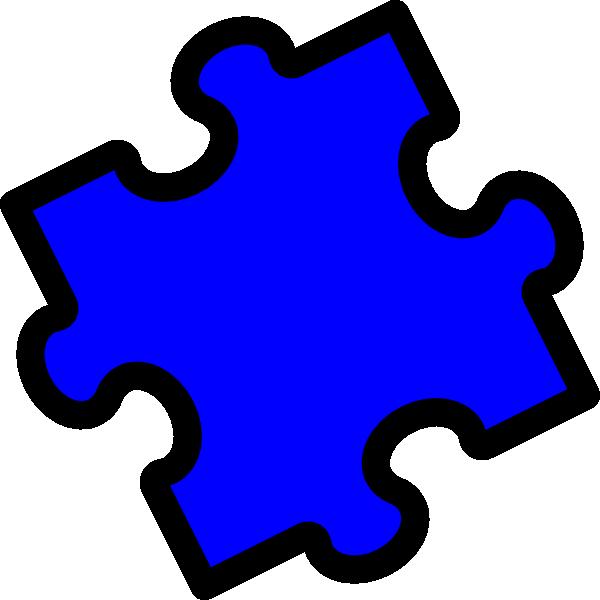 Puzzle clipart autism. Bright blue piece clip