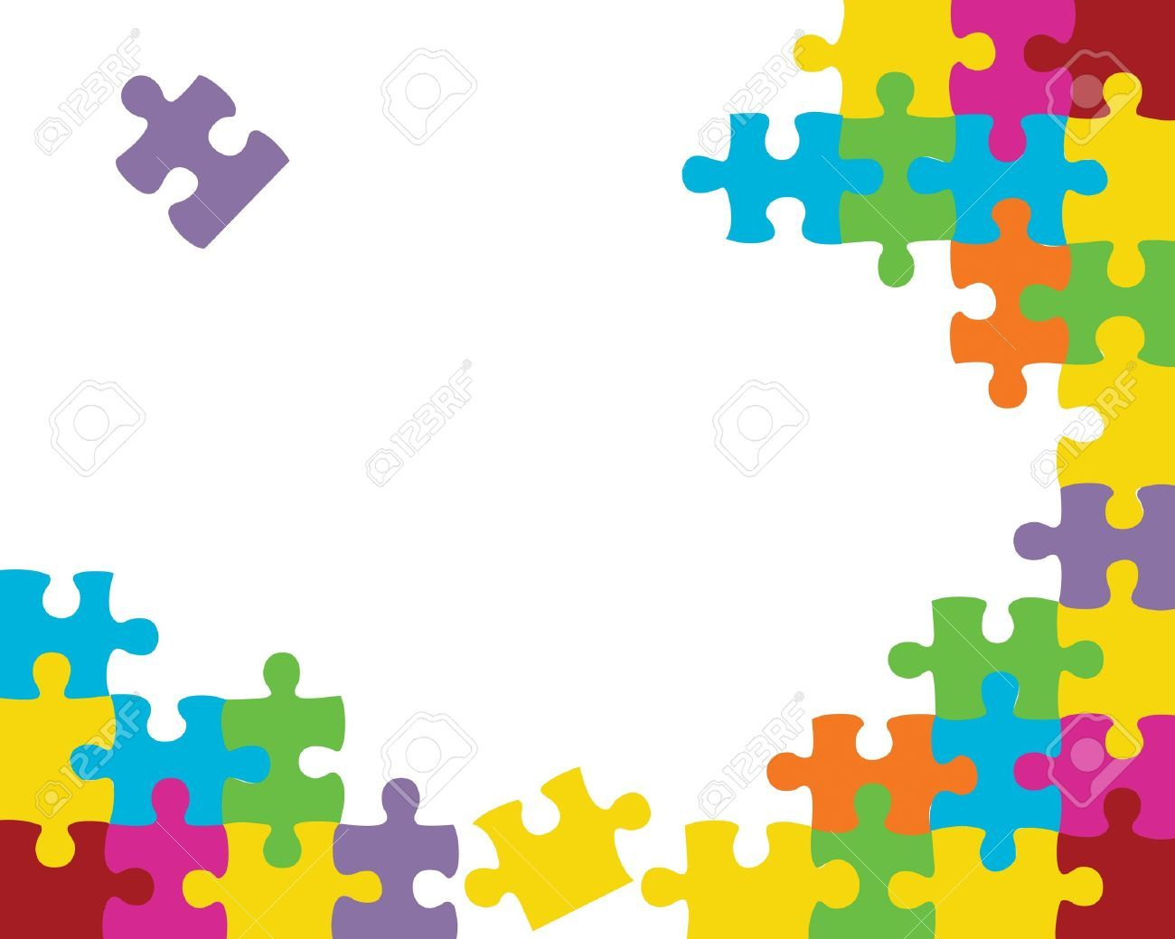 Puzzle clipart background. Stock vector periscopes illustration