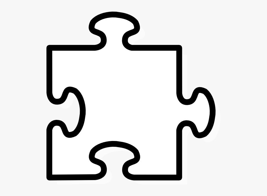 Puzzle clipart black and white. Jigsaw puzzel peice clip