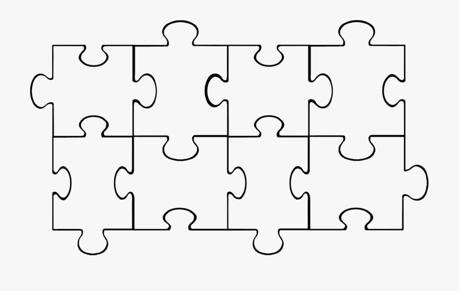 Blank piece kid . Puzzle clipart black and white