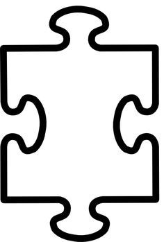 Printable pieces template best. Puzzle clipart blank