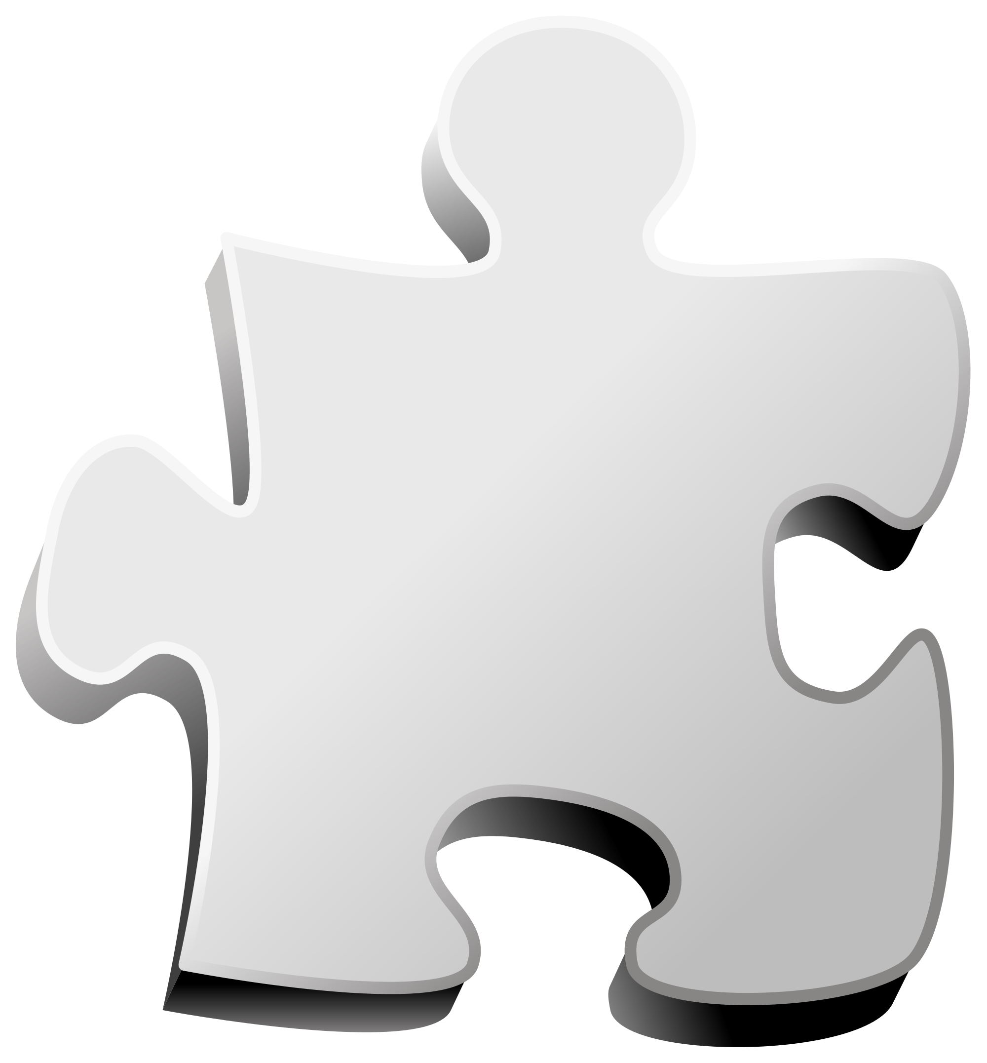 Puzzle clipart blank. File wiki piece svg
