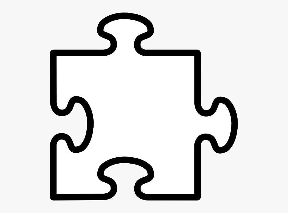 Pieces drawing of a. Puzzle clipart blank