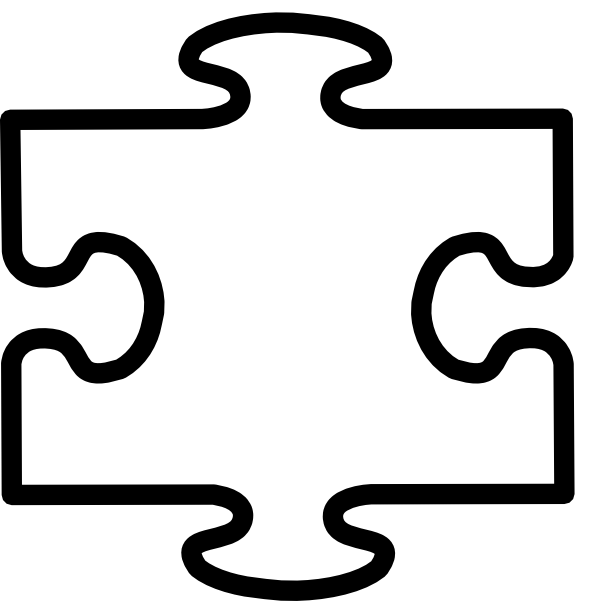 Puzzle clipart blank. White all clip art