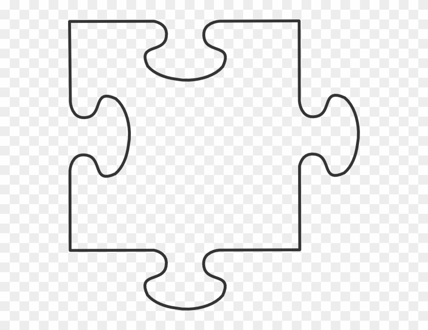 Piece template pinclipart . Puzzle clipart blank