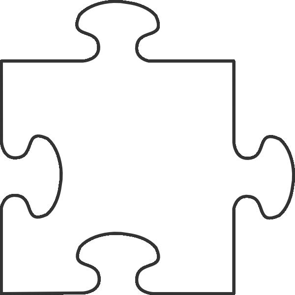 Puzzle clipart border. Blue piece top clip
