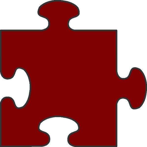 Maroon piece top clip. Puzzle clipart border
