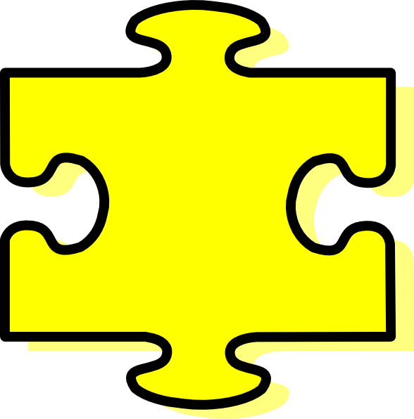 Yellow piece clip art. Puzzle clipart bridge