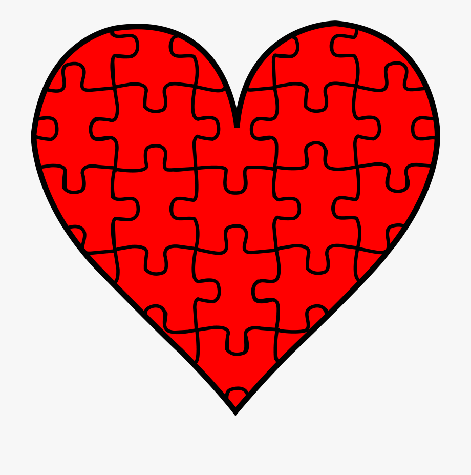 Heart piece with pieces. Puzzle clipart clip art