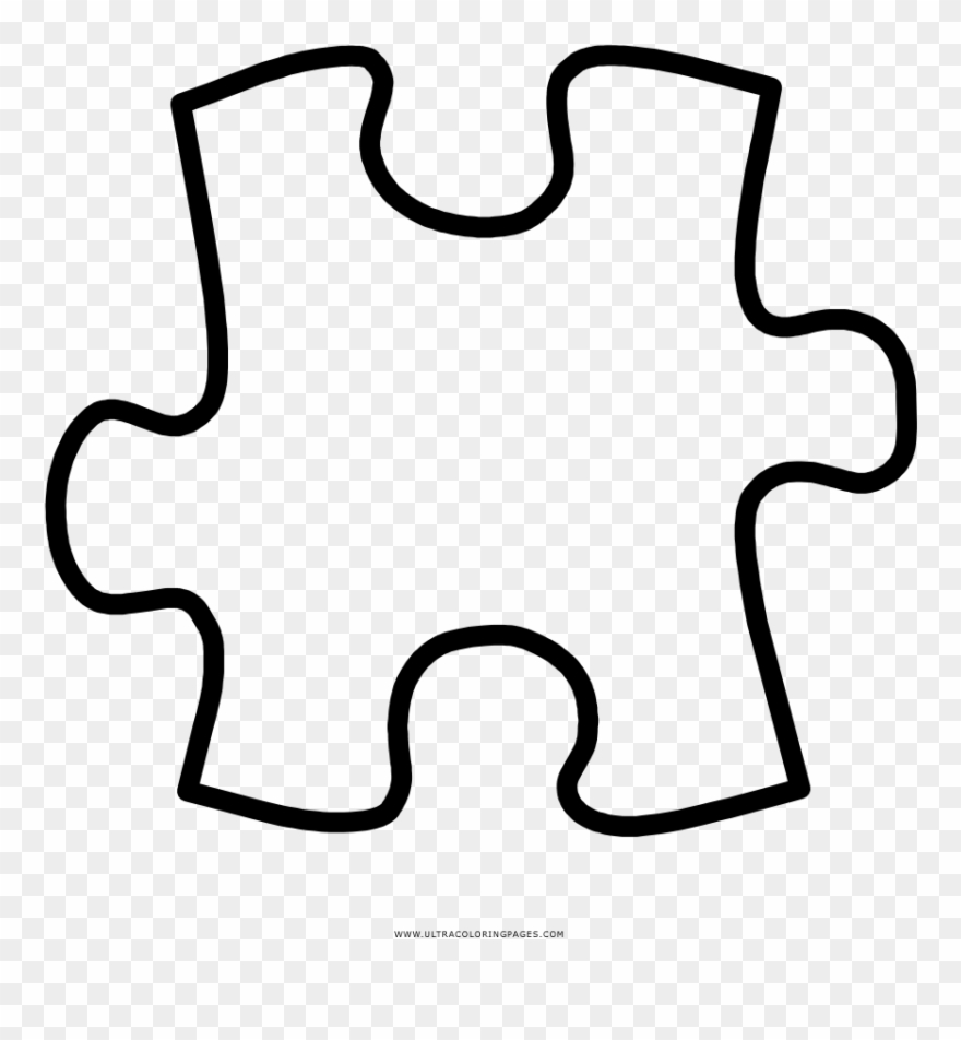 Puzzle clipart coloring page. Piece pinclipart