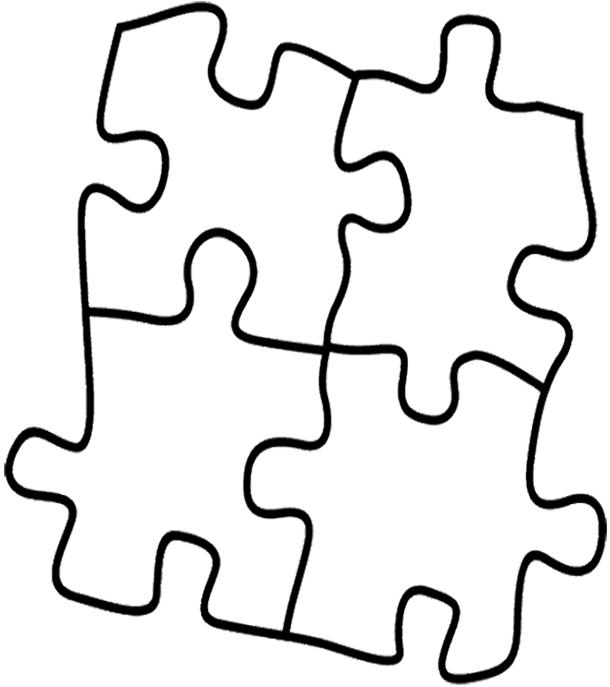 Download colouring pictures of. Puzzle clipart coloring page