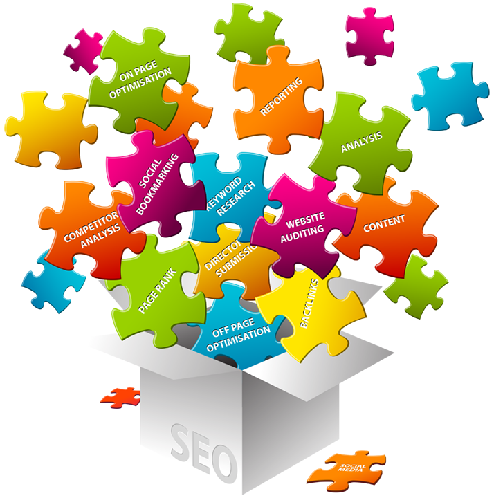 Search engine optimization seo. Puzzle clipart consideration