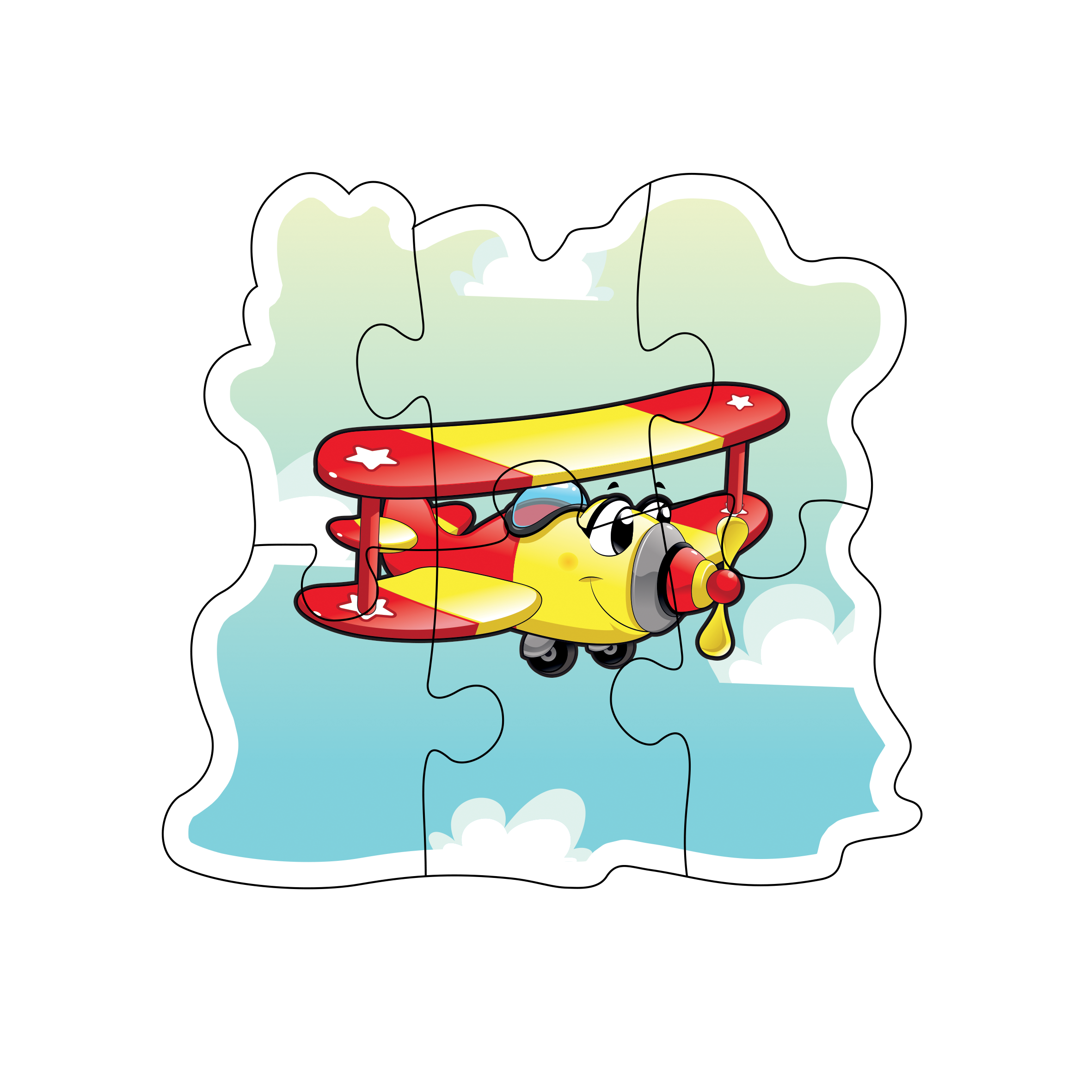 Early transportation . Puzzle clipart coordination