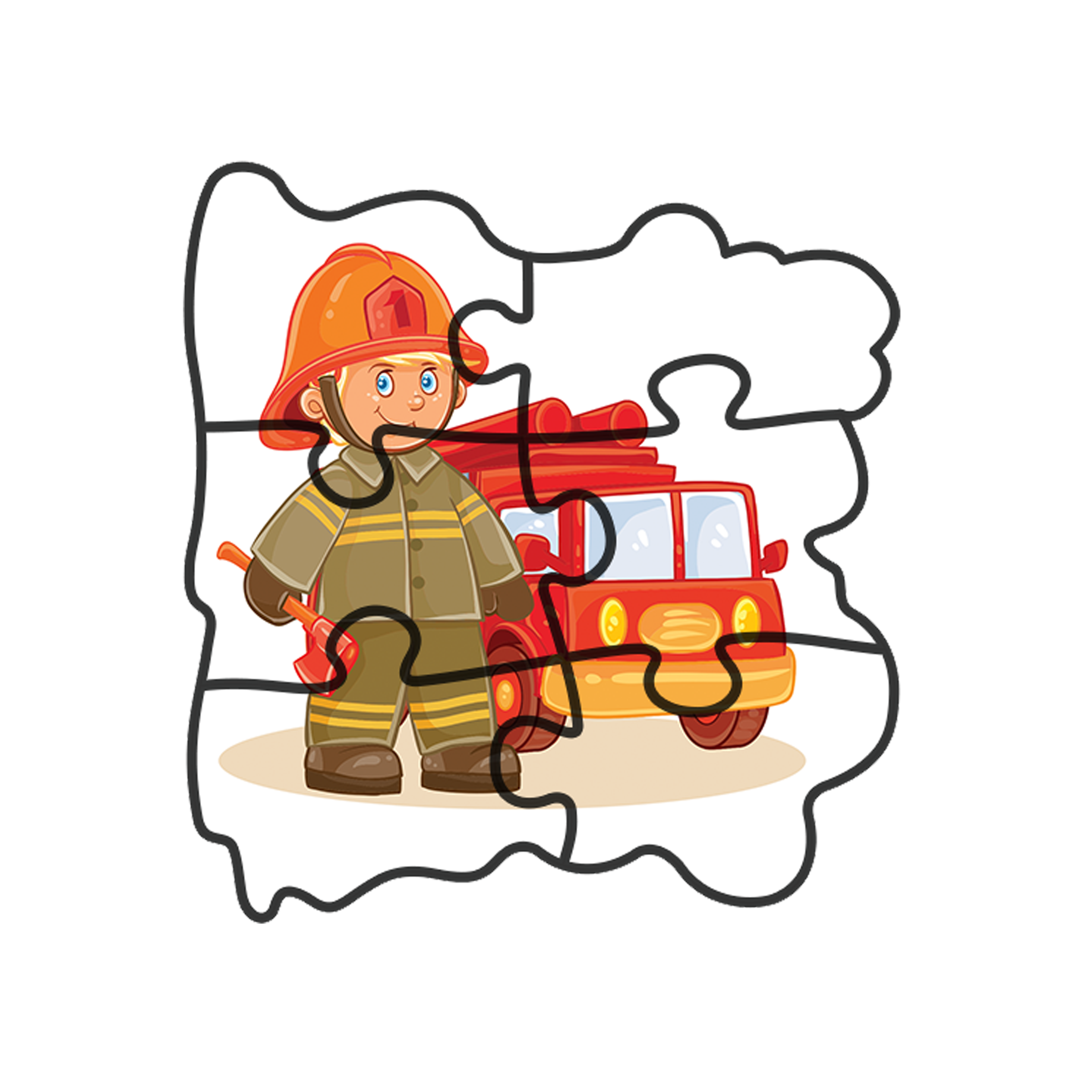 Puzzle clipart coordination. Early baby professions