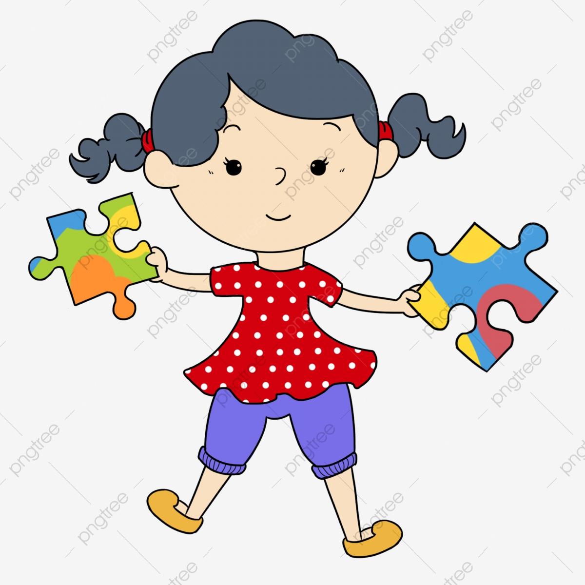 Intellectual game jigsaw summer. Puzzle clipart cute