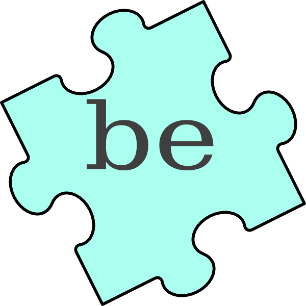 Piece be clip art. Puzzle clipart green