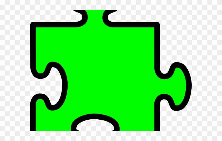 Transparent background pieces . Puzzle clipart green