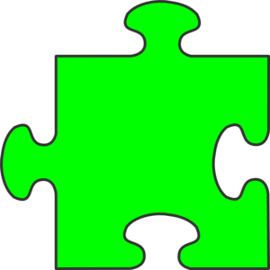 Piece clip art at. Puzzle clipart green