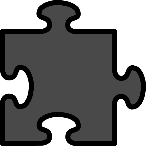 Grey clip art at. Puzzle clipart home