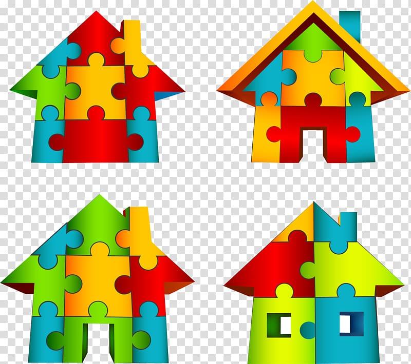Puzzle clipart house. Jigsaw puzz d transparent