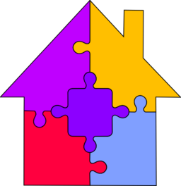 Color wheel of . Puzzle clipart house
