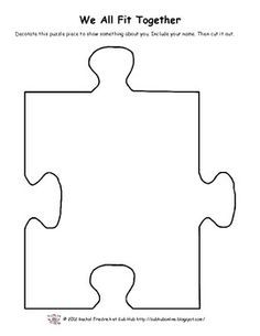 We all fit together. Puzzle clipart individual activity