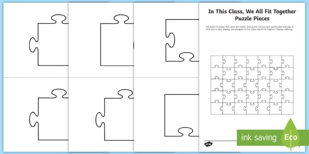 Class poster puzzles games. Puzzle clipart individual activity