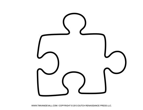 Puzzle clipart individual activity. Free printable piece templates