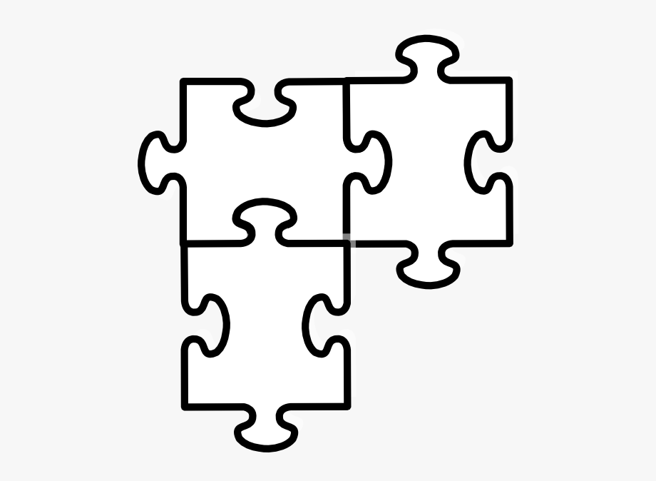 Puzzle clipart interdependence. Black and white kid