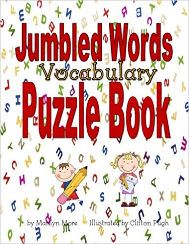 Puzzle clipart jumbled. Words vocabulary book marilyn