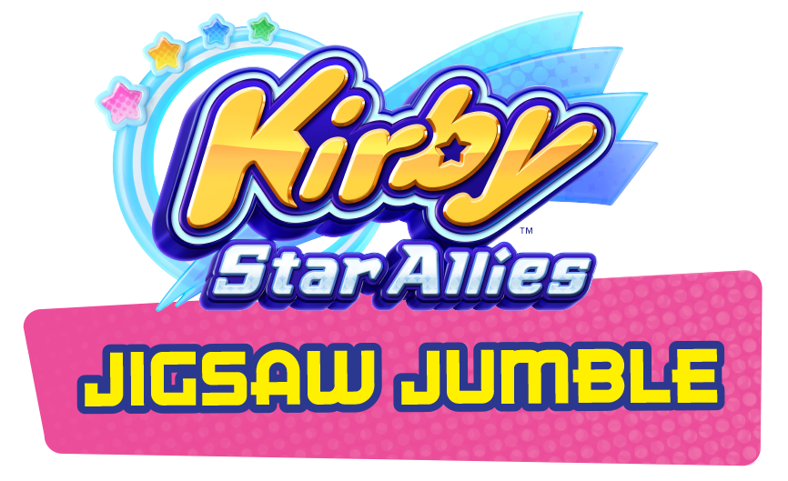 Puzzle clipart jumbled. Kirby star allies jigsaw