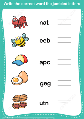 Jumble word scramble copy. Puzzle clipart jumbled
