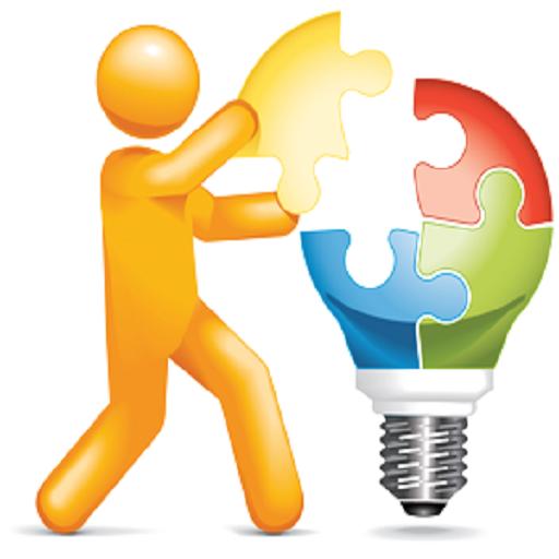 Puzzle clipart light bulb. Cartoon yellow
