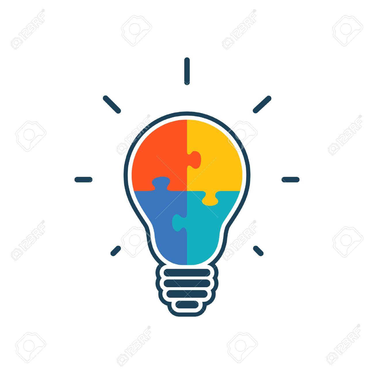 Free download clip art. Puzzle clipart light bulb