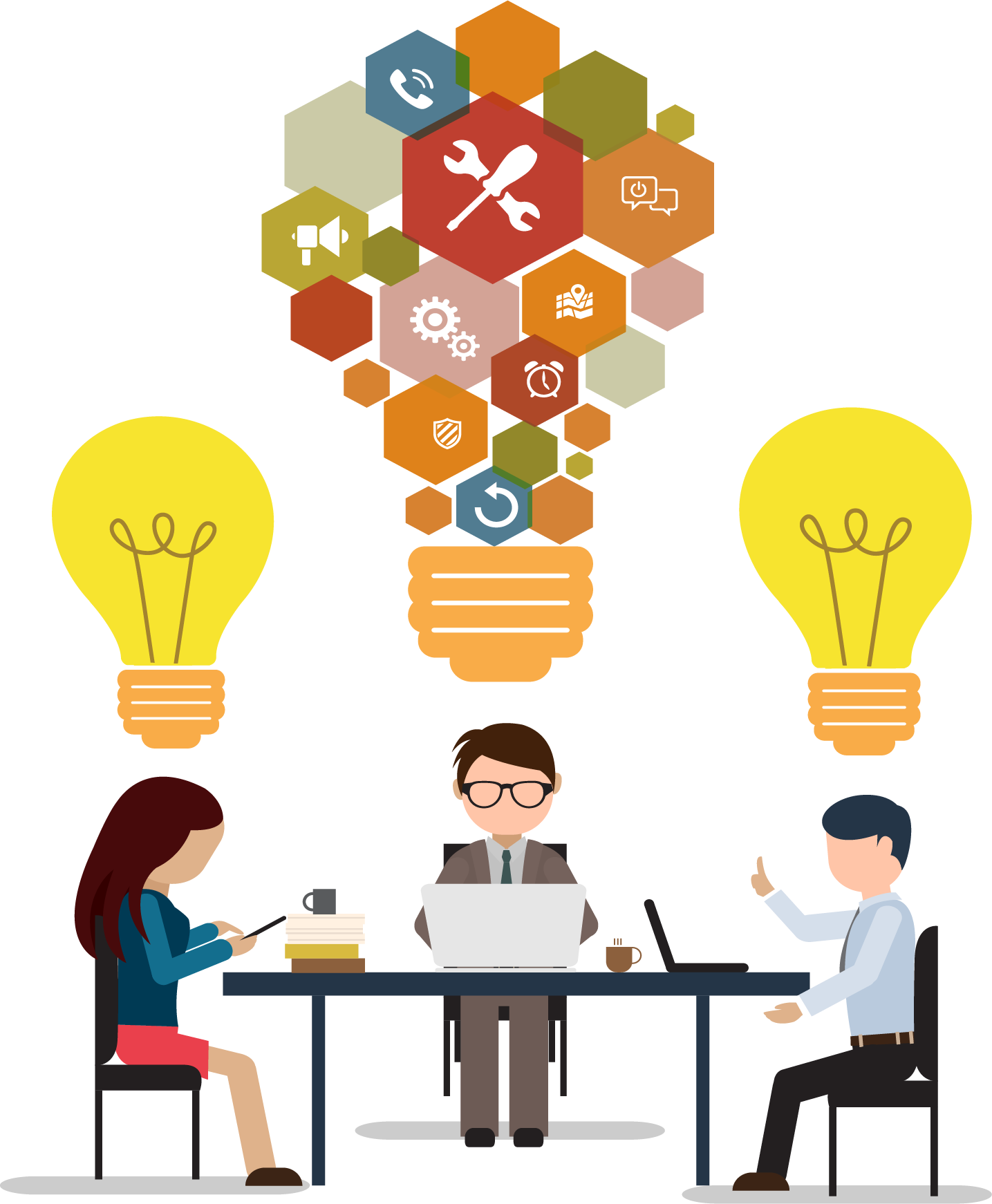 Puzzle clipart light bulb. Meeting office business transprent