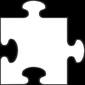 White border piece top. Puzzle clipart line art