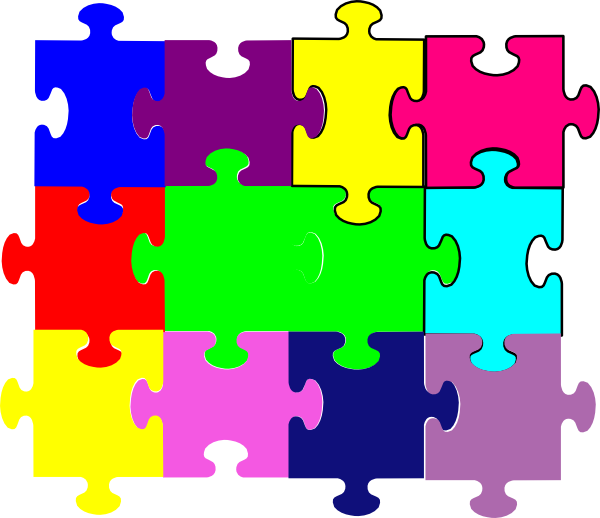 Puzzle clipart line art. Jigsaw clip at clker