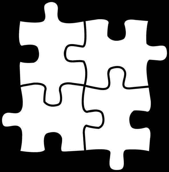 Puzzle clipart line art. Public domain author at