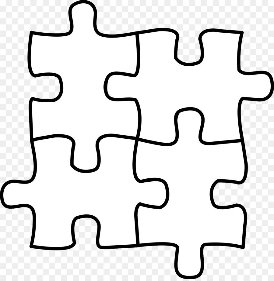 Black background white . Puzzle clipart line art