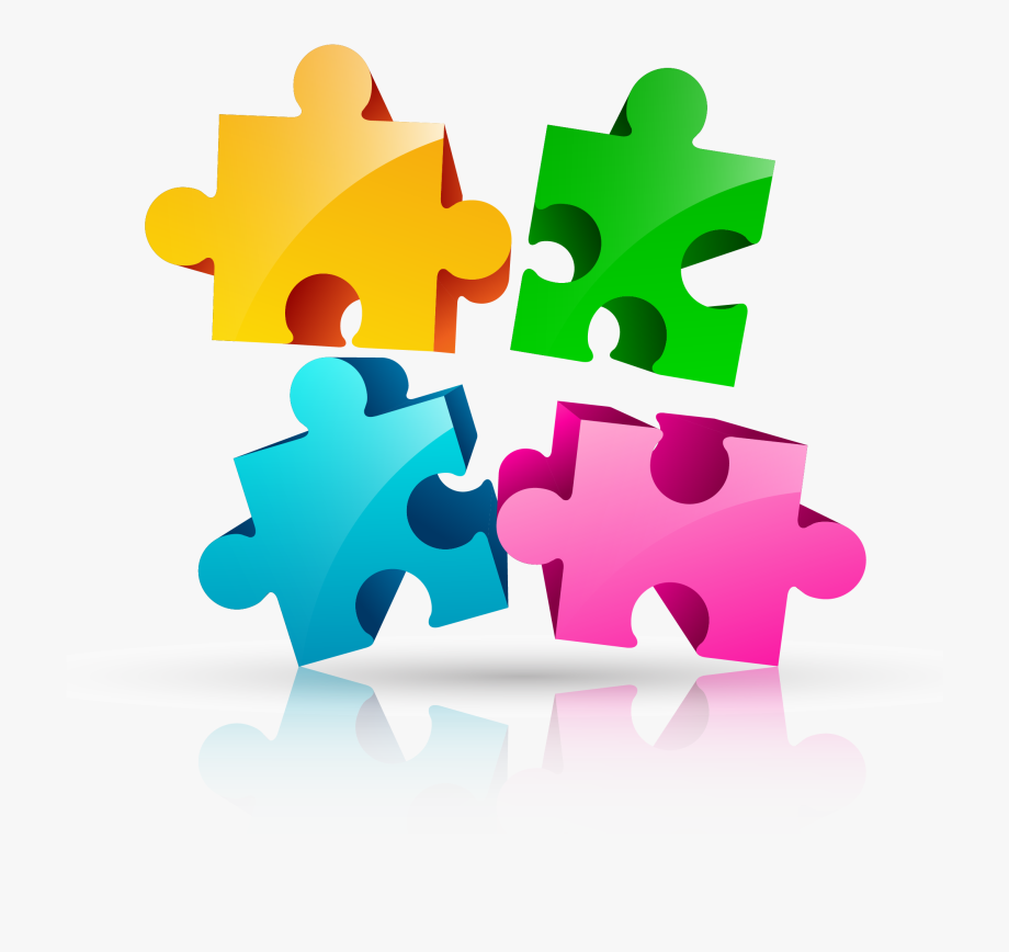 Jigsaw pieces design . Puzzle clipart logo
